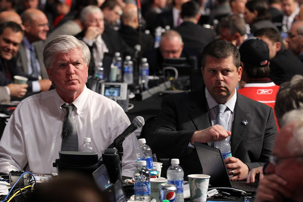 I meant to photoshop a large potato over Brian Burke, sitting next to Nonis.
