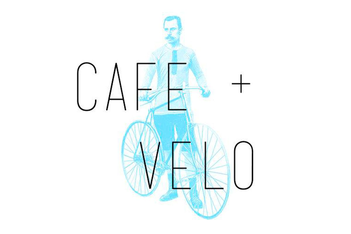 The logo for Cafe + Velo.