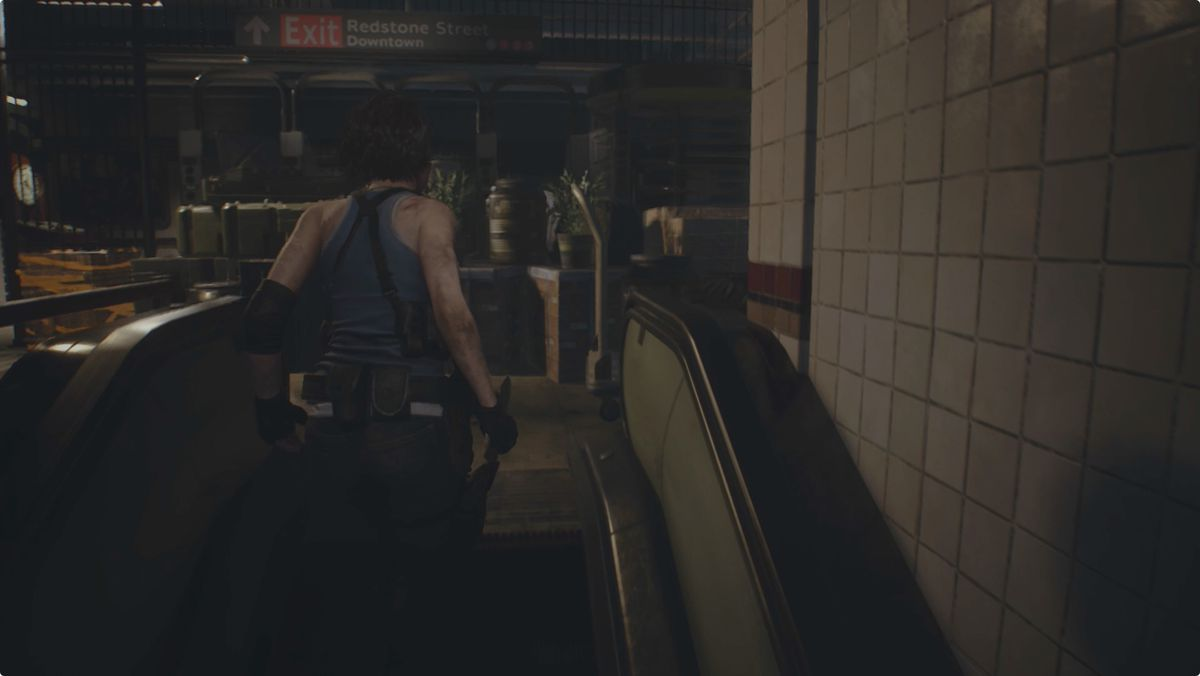 Resident Evil 3 Downtown streets Subway Ticket Gate