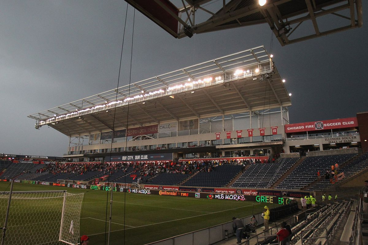 The weather was not as wet and ominous as this today, but the wind and cold still made for unattractive soccer and unpleasant viewing conditions.