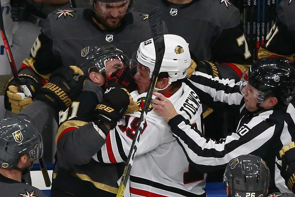 Chicago Blackhawks v Vegas Golden Knights - Game One