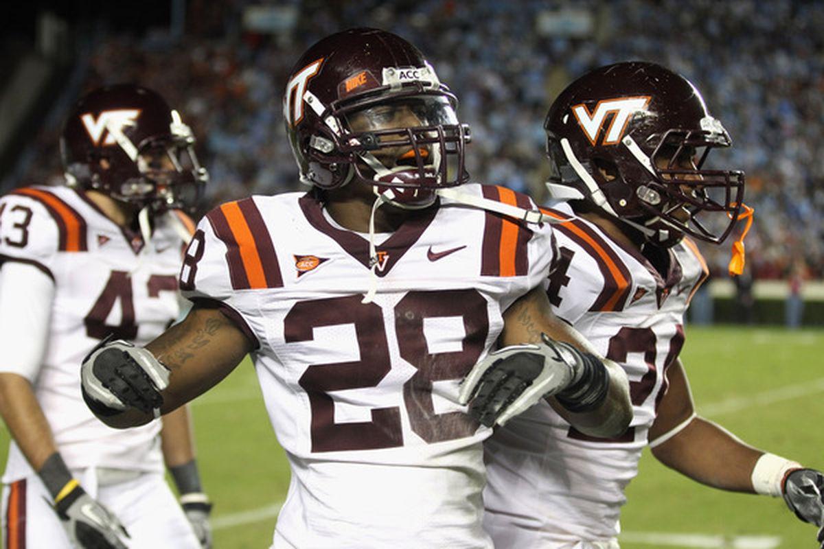 Alonzo Tweedy (28) at Virginia Tech