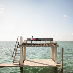 """Stiltsville isn't Miami folklore; it's real. Located off the shores of Biscayne Bay, the seven remaining houses of <a href=""""http://www.nps.gov/bisc/historyculture/stiltsville.htm"""">Stiltsville</a> (there were once 27 of them) stand in the middle of the oce"""