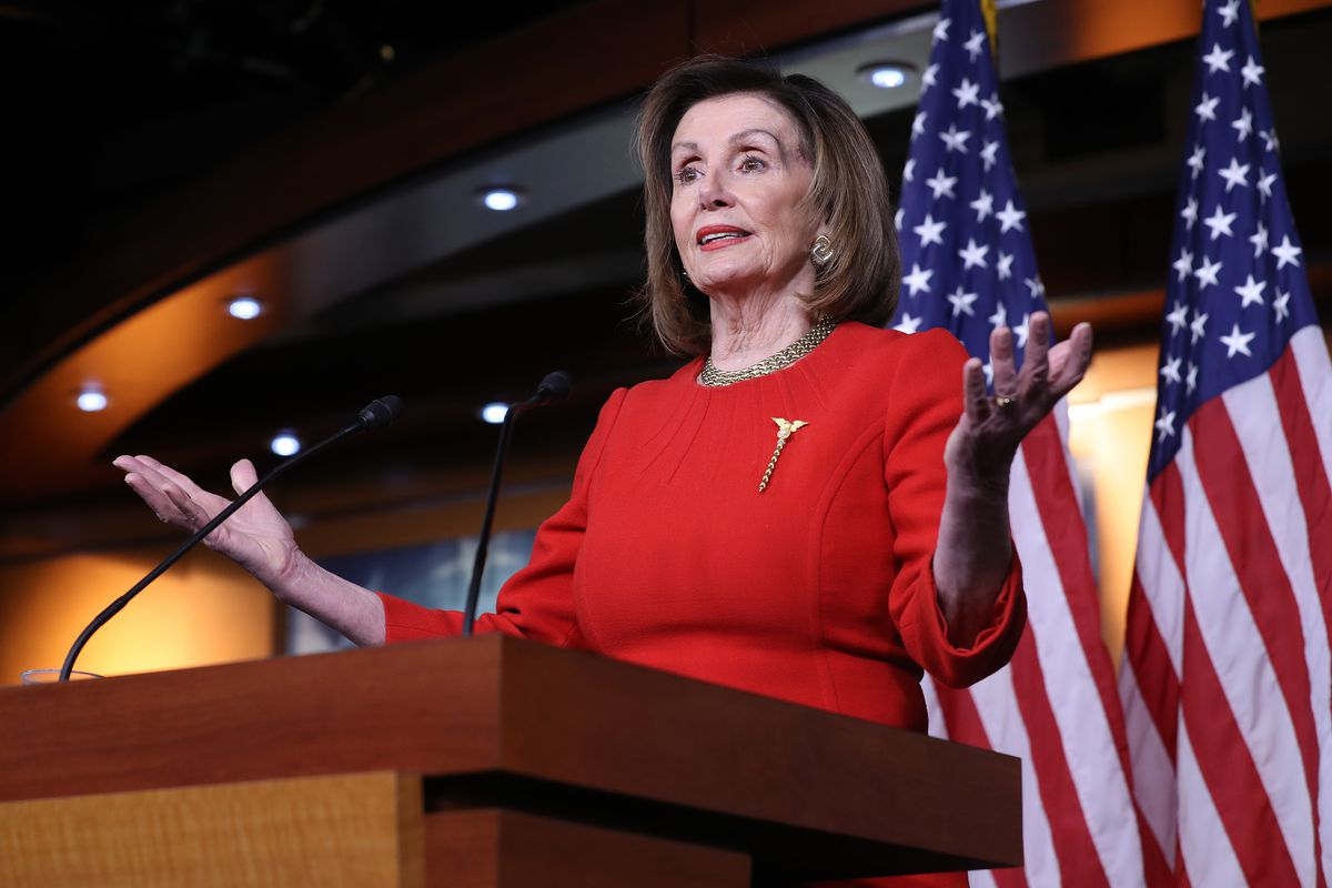 House Speaker Nancy Pelosi during a December news conference