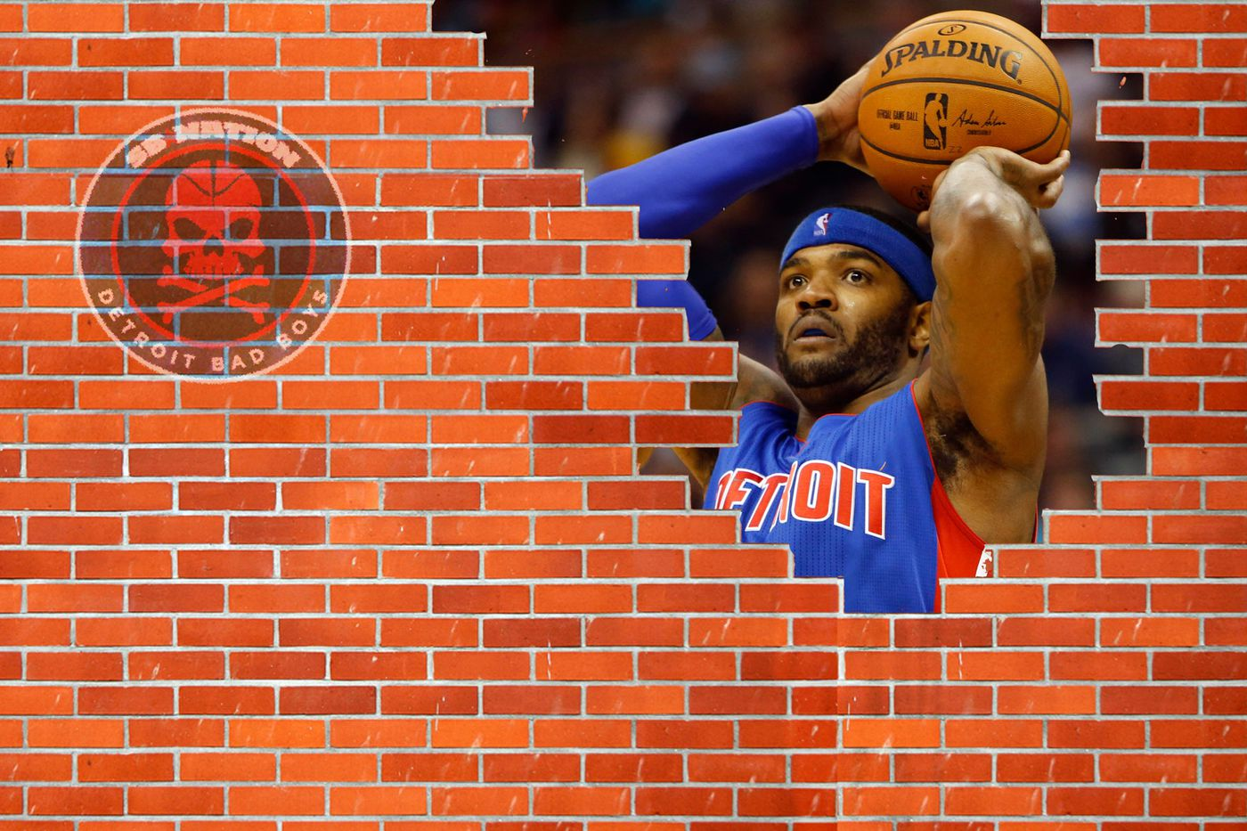 Forming A F Ing Wall With Josh Smith S Bricks Detroit Bad Boys