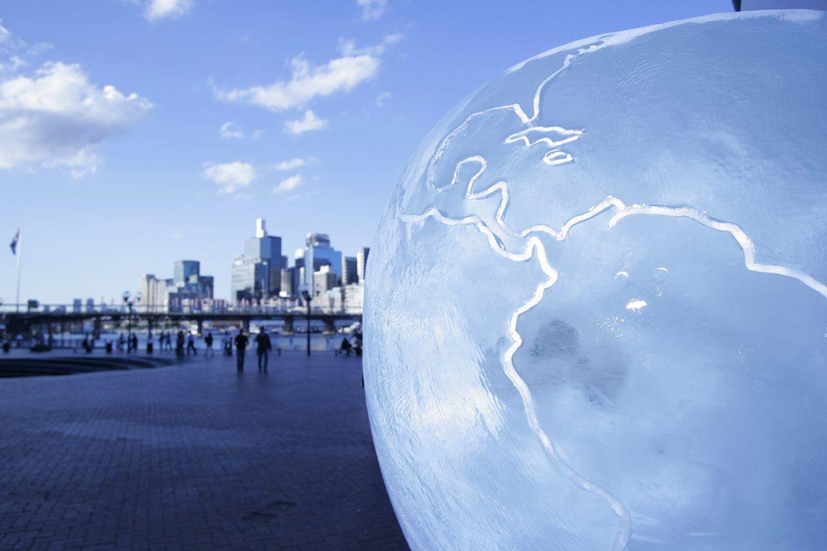 Ice Sculpture in Darling Harbour, Australia