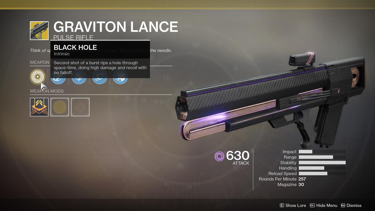 Graviton Lance Exotic Destiny 2