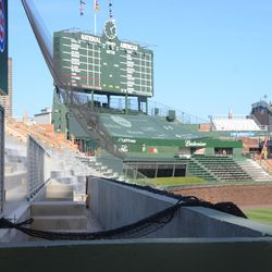 5:09 p.m. Photo taken from the left-field foul pole -