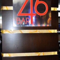 The Bar 46 sign.