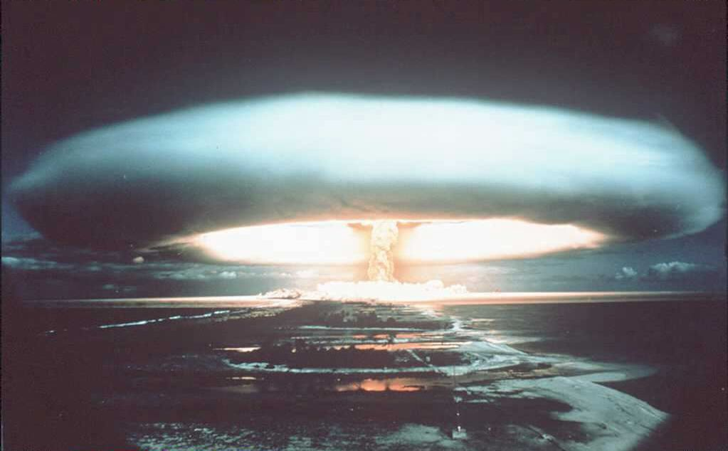 File photo dated 1971 of a nuclear explosion at Mururoa atoll. (AFP/Getty Images)