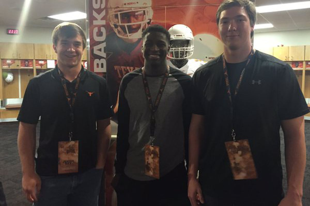 Sam Ehlinger (left) with fellow Texas commits