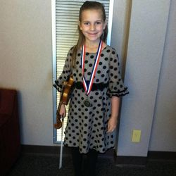 Abigail McLaughlin, now 8 years old, at a spring recital in April 2012.