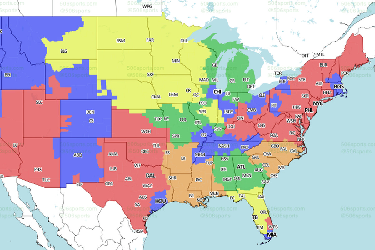 Eagles-Giants game TV coverage map - Bleeding Green Nation on