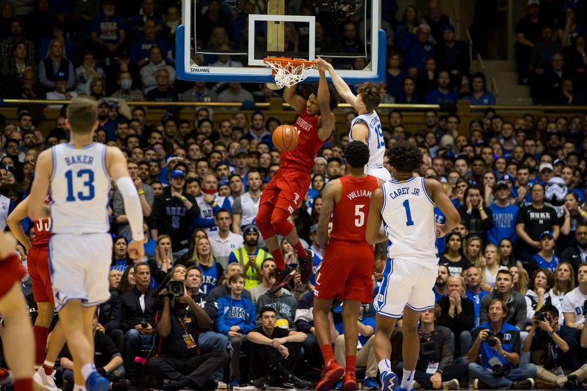 COLLEGE BASKETBALL: JAN 18 Louisville at Duke
