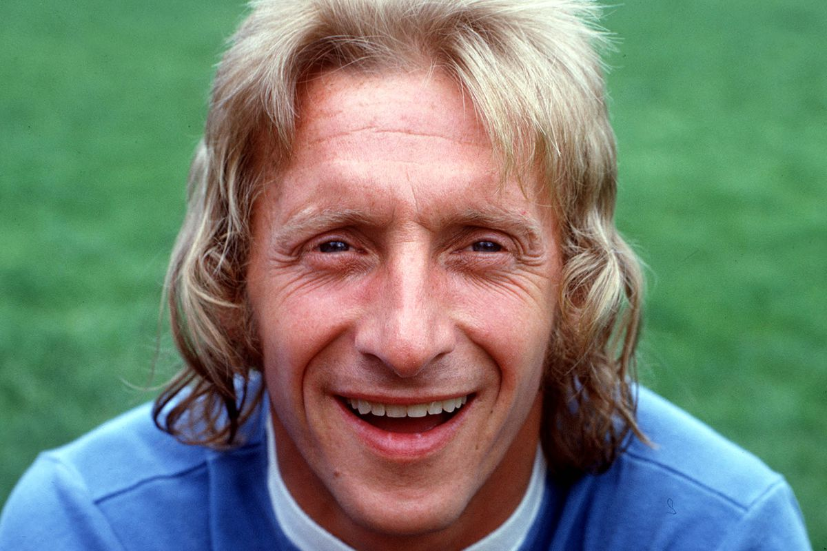 Football. August, 1974. Portrait of Manchester City's Denis Law.