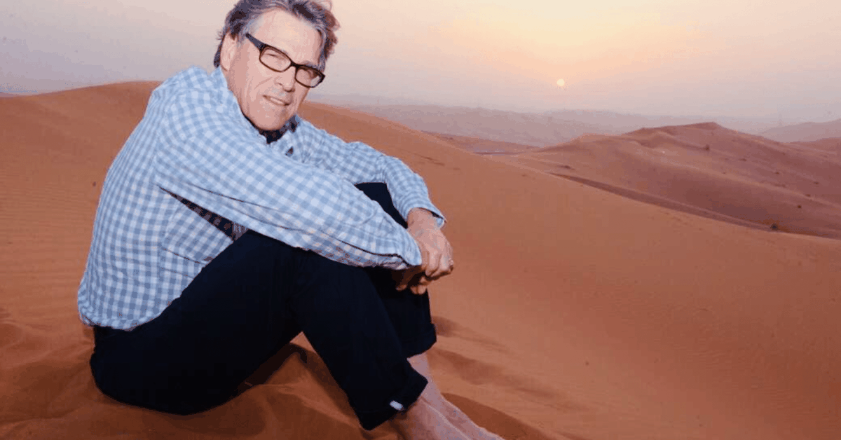 rick perry in the desert
