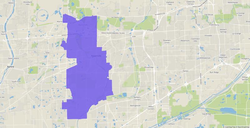 Illinois House 41st District map.
