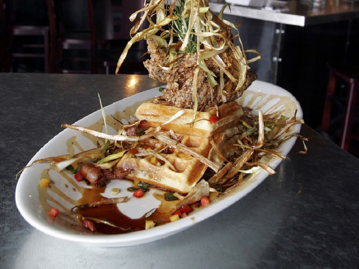 Sage fried chicken at Hash House A Go Go