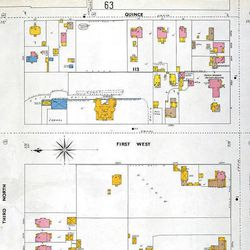 This is a scan of the Sanborn Insurance maps held at the Historical Society. They begin in the 1880's and continue until the early 20th century, they show every building on most all city streets of every major city in Utah.