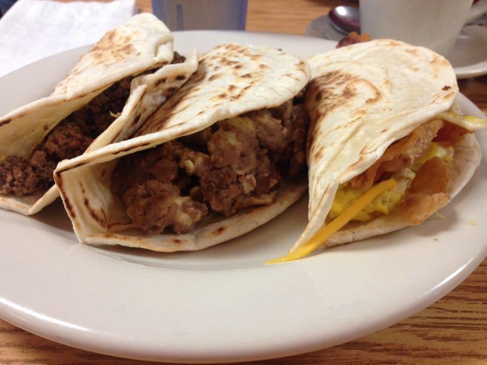 Breakfast tacos at Joe's
