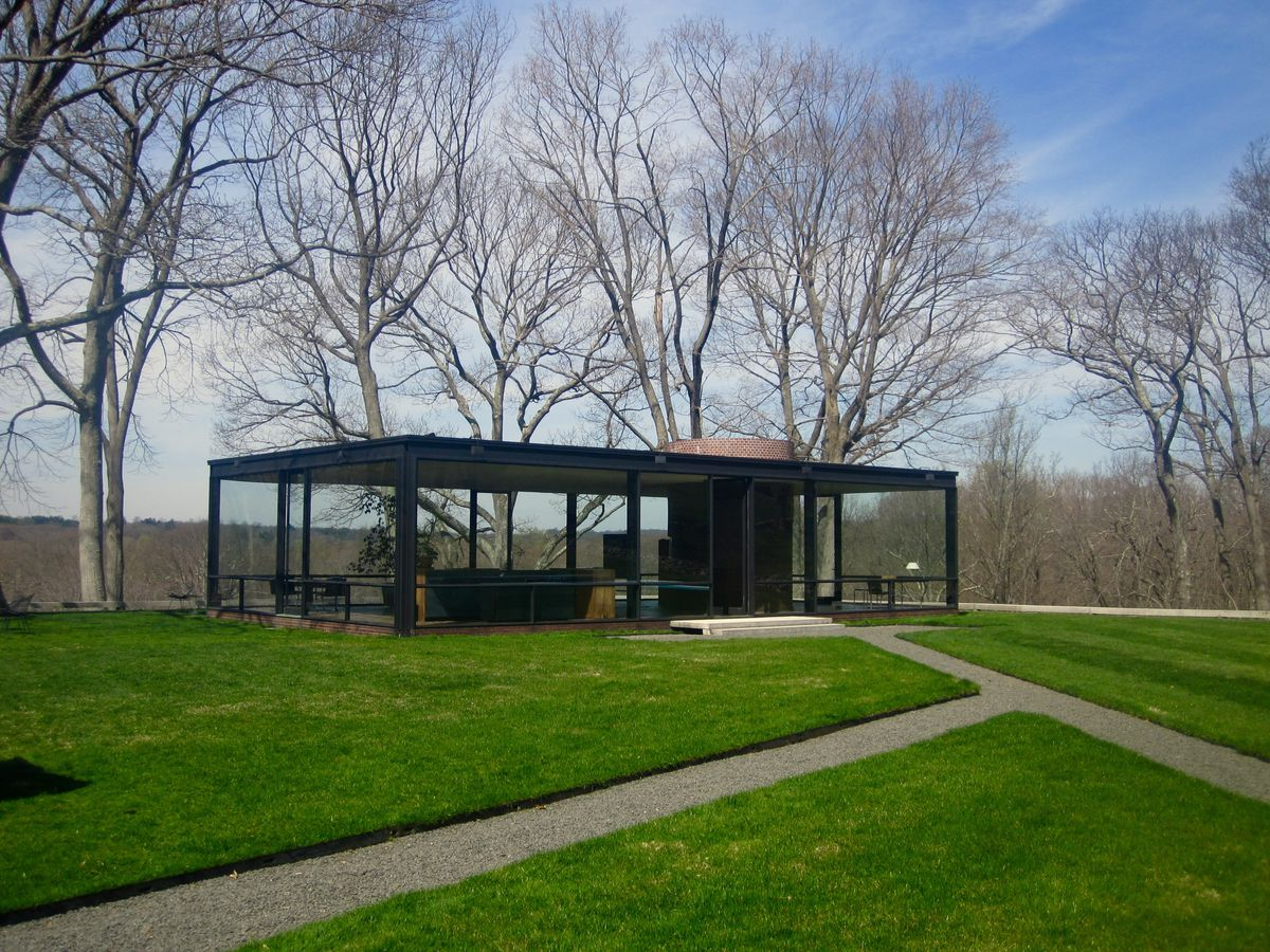 Love it or hate it johnsons 1949 glass house which he designed for himself in new canaan connecticut helped dictate a typology for the modern glass box