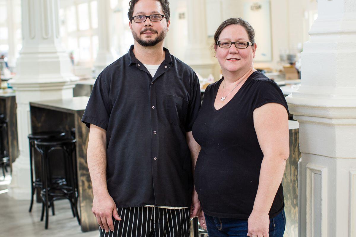 Brandon and Jennifer Sherrod Blackwell of Elysian Seafood in St. Roch Market.