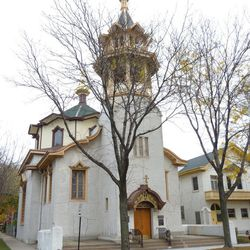 """<a href=""""http://holytrinitycathedral.net/"""">Holy Trinity Orthodox Cathedral</a> (1121 North Leavitt Street) offers public tours on Saturday from 10 a.m. until 2 p.m. The official City of Chicago Landmark was designed by big-time architect Louis H. Sulliv"""