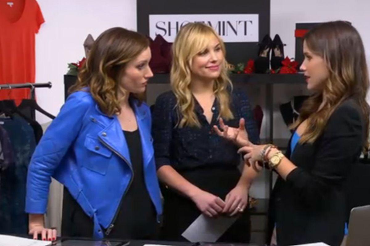 Hillary and Katherine discuss fashion with Sophia Bush