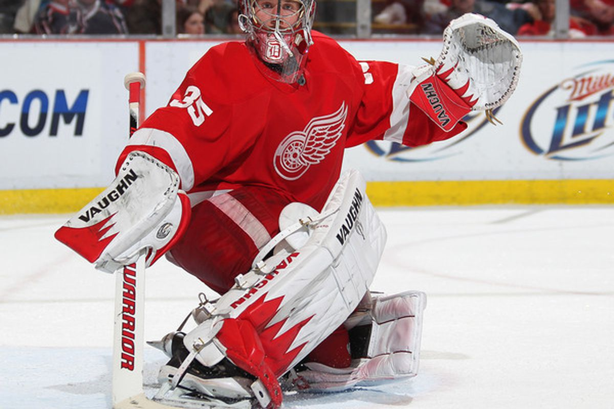 Jimmy Howard will be able to afford more monocles and tophats next year as he gets a new, richer contract.