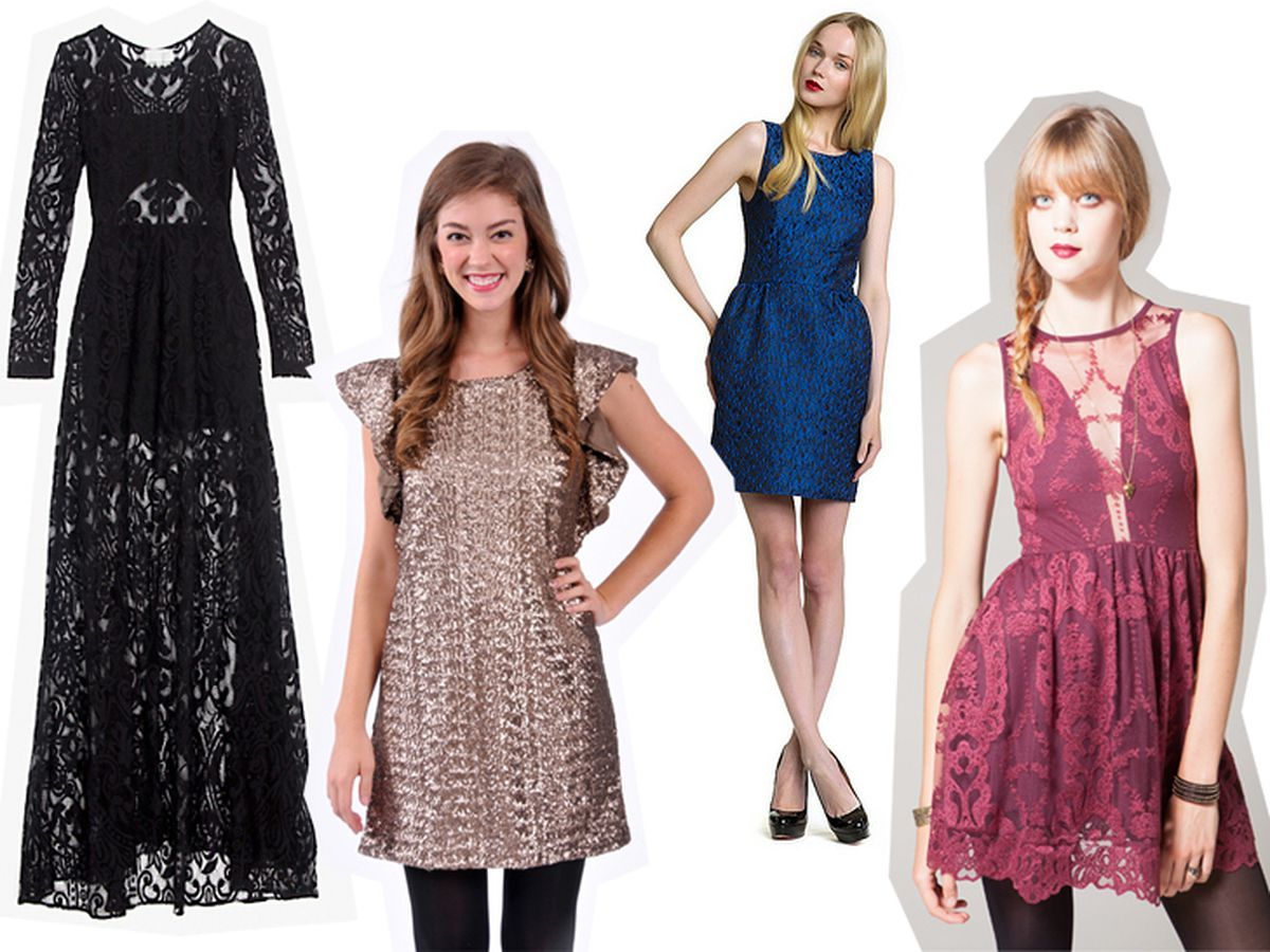Where to buy dresses left to right: Intermix, Britt Ryan, Holiday, Flock