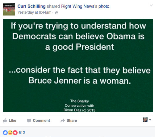 Curt Schilling trans post jenner
