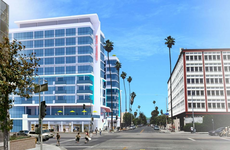 Rendering of hotel project at 3751 W 6th St