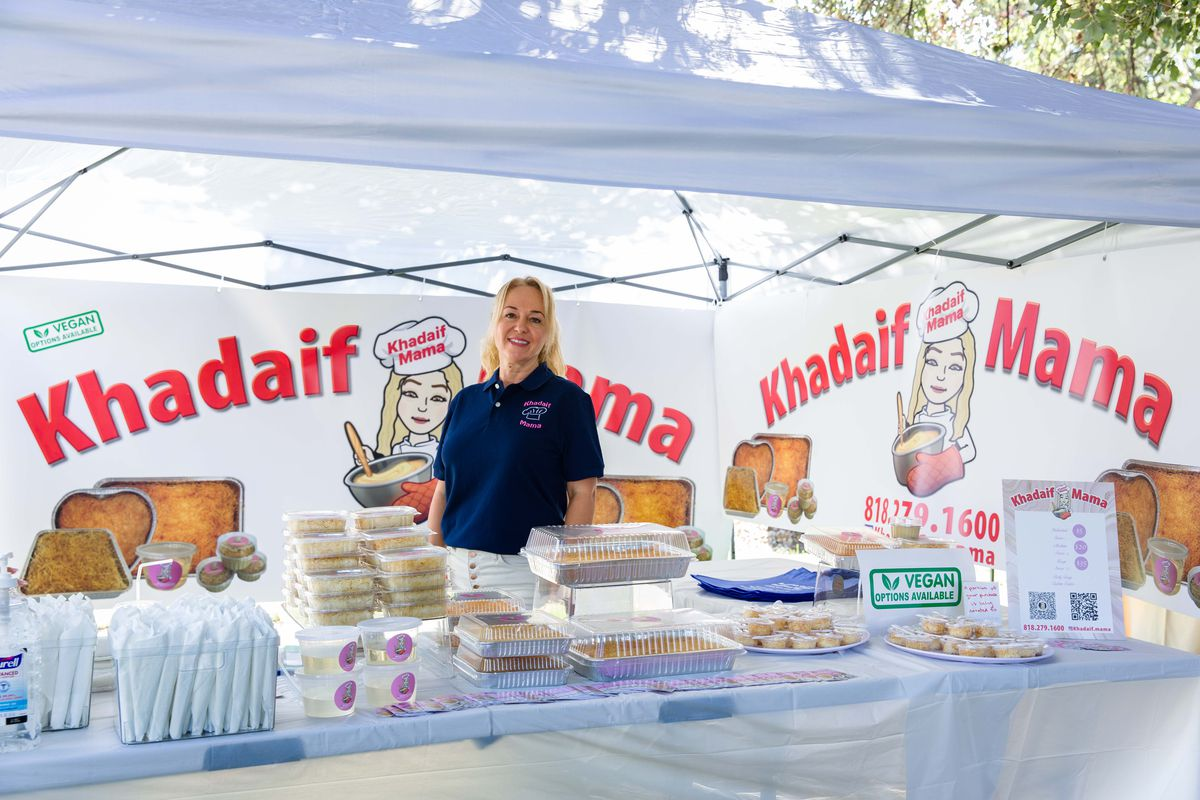 Khadaif Mama at Glendale's new Artsakh Gardens Farmers Market.