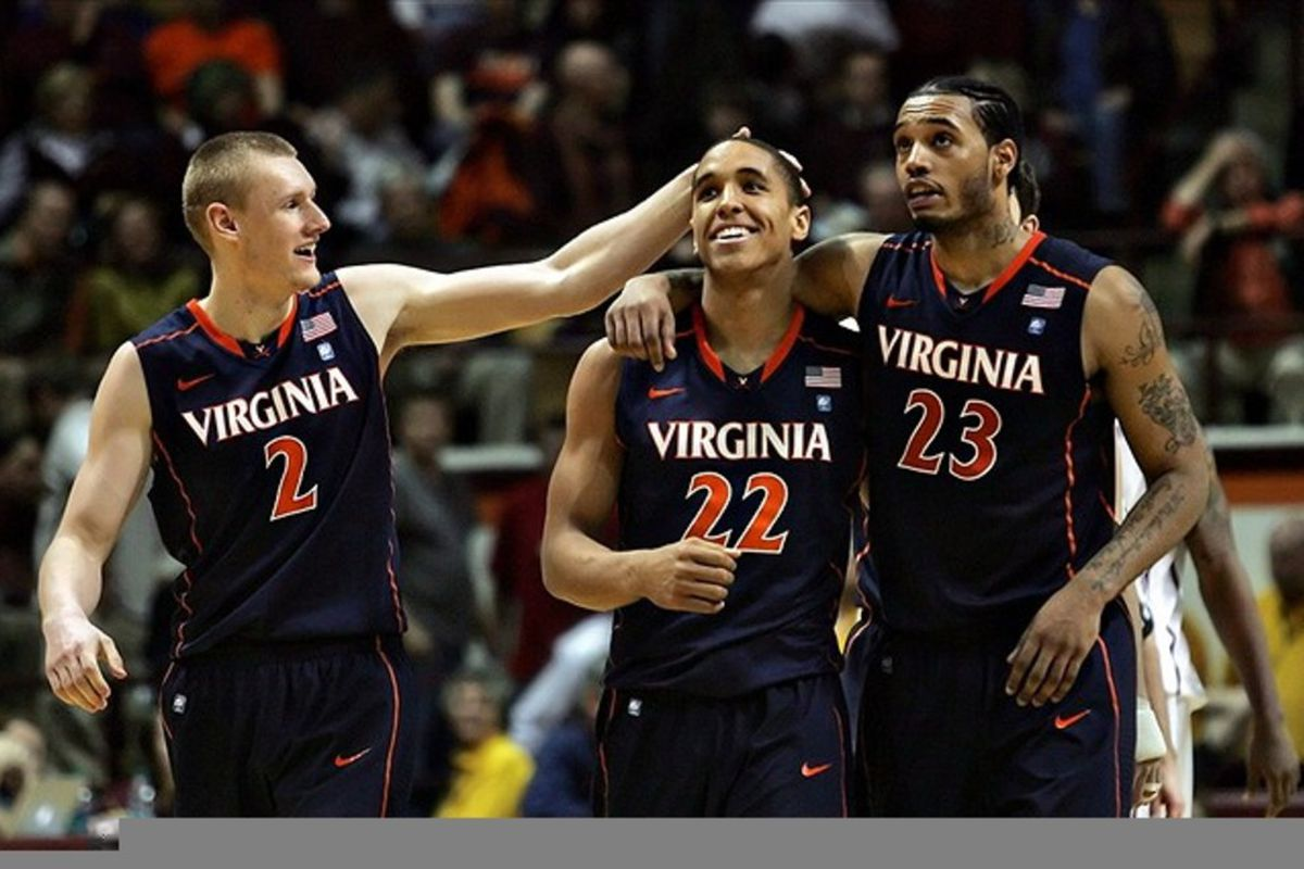 """Brian Schwartz finds this picture of Paul Jesperson, Gimpy Brogdon, and Mike Scott simply """"adorable."""" His word choice."""