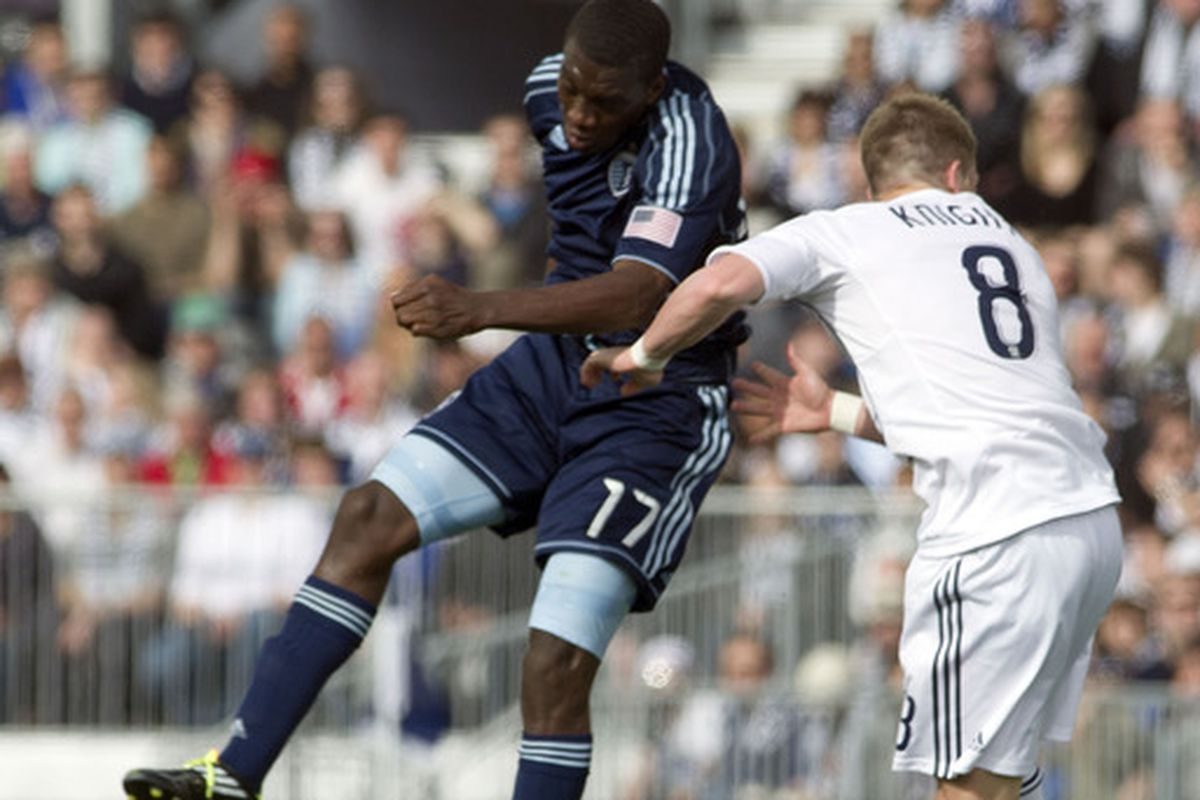 Goal scorer two minutes into his MLS career, goal-scoring hero Wednesday night for <strong>Sporting KC</strong> in the <strong>US Open Cup</strong> qualifier against <strong>Houston Dynamo</strong> - <strong>C.J. Sapong</strong> is flying high.