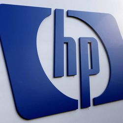 FILE - This Feb 21, 2012 file photo shows a Hewlett Packard logo in Frisco, Texas. Hewlett-Packard Co. showed signs of recovery in the first three months of the year as it strengthened its position as the world's largest maker of personal computers and gained back some of the business it had lost while weighing whether to dump its PC division. HP's stock jumped nearly 7 percent by early afternoon Thursday, April 12, 2012, the first trading day since research groups Gartner and IDC released their quarterly PC shipment estimates.