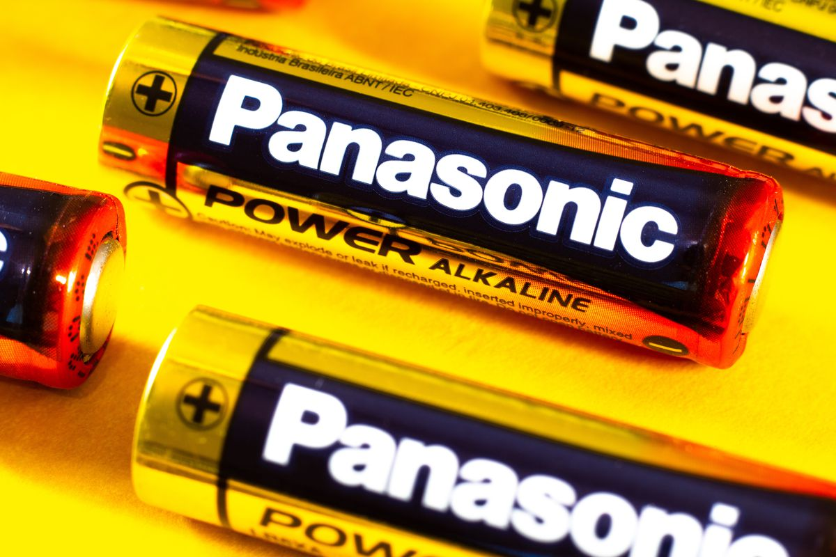 In this photo illustration several alkaline batteries from...