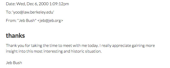 Jeb Bush Yoo email