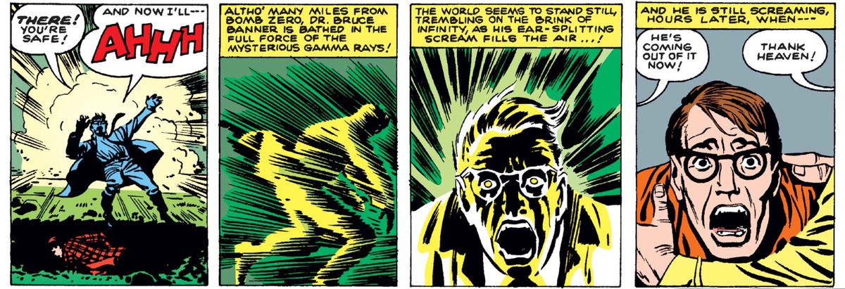 From The Incredible Hulk #1, Marvel Comics (1962).