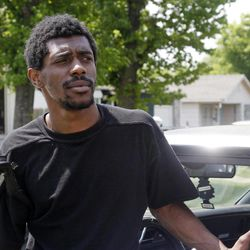 In this Tuesday, April 10, 2012 photo, Keontai Moses is pictured during an interview in Tulsa, Okla.  In the days after what authorities describe as racially-motived shootings that killed three people and wounded two more earlier this month, the national spotlight was on the crime-ridden neighborhood, where iron bars on windows belie the toys strewn in people's front yards. The Rev. Jesse Jackson and the national president of the NAACP showed up. Local church and civic leaders pledged things would finally change for the better.
