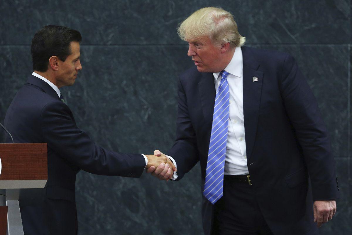 Trump with Mexican President Enrique Pena Nieto