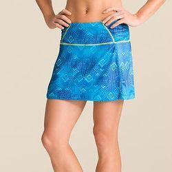 "<b>Athleta</b> Printed Sprint Skort in Cobalt Blue Isosceles, <a href=""http://athleta.gap.com/browse/product.do?cid=93035&vid=1&pid=581410012"">$54</a>"