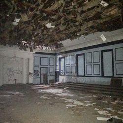 A second-floor ballroom.