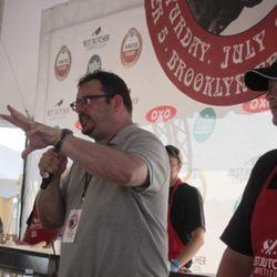 Jolly meat man Josh Ozersky MCing