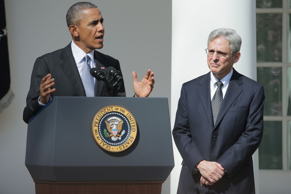 President Obama with his Supreme Court nominee Merrick B. Garland on Wednesday.