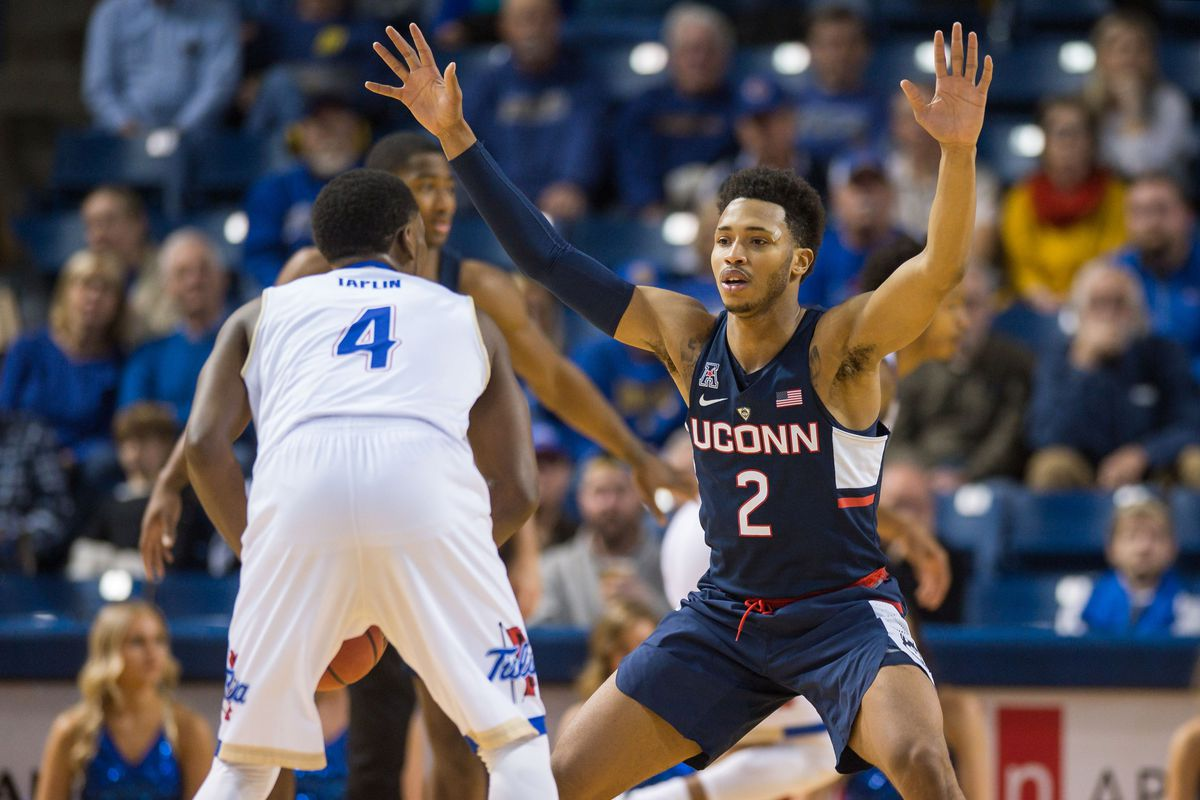 NCAA Basketball: Connecticut at Tulsa
