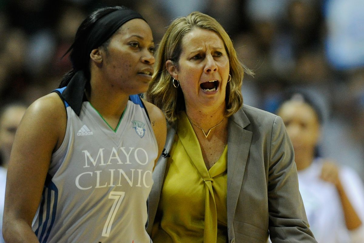 e969209edf6 Minnesota Lynx Head Coach Cheryl Reeve calls the shots as Jia Perkins  enters the game during Game 5 of the WNBA Finals on Oct. 4