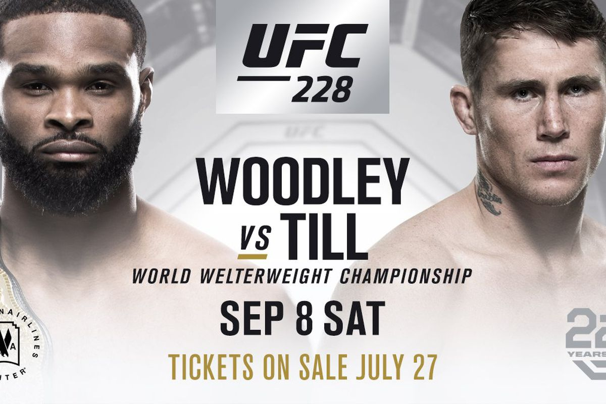 Tyron Woodley vs Darren Till title fight set to headline UFC 228 on Sept. 8  in Dallas