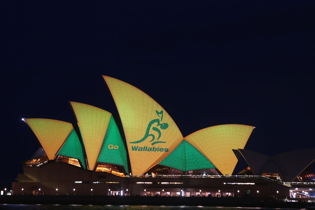 Sydney Opera House Illuminated In Green And Gold Ahead Of Rugby World Cup Final
