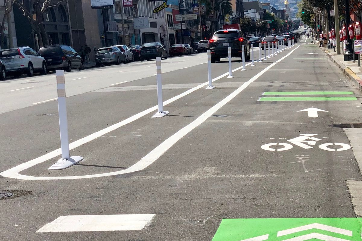 Protected bike lane in SF completed in record time following